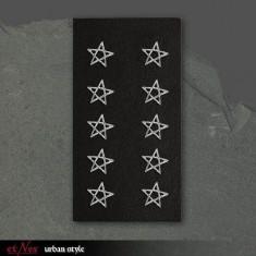 Cercei argint Pentagrama