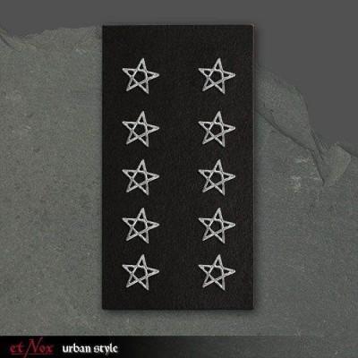 Cercei argint Pentagrama foto