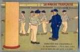 AX 87 CP VECHE INTERBELICA-UMORISTICA MILITARA -MARINA FRANCEZA -MAISTRUL-SECUND, Franta, Circulata, Printata