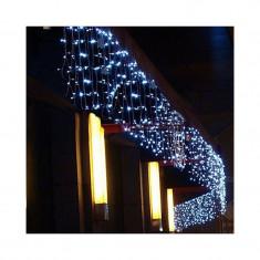 Instalatie de Craciun 5 m x 1 m Perdea ploaie Alb Rece, 240 leduri, SDX 3036W / perdea luminoasa / ghirlanda / exterior