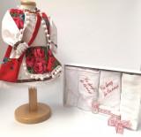Cumpara ieftin Set Traditional Botez Fetita - Costumas + Trusou 4