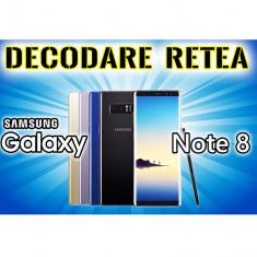 Decodare retea SAMSUNG Galaxy Note 8 n950 SIM Unlock