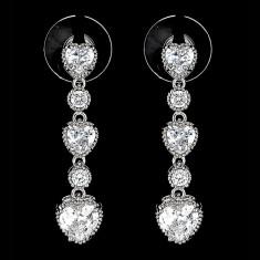 Cercei placati cu Aur 18K si Diamante, Calypso Platinum