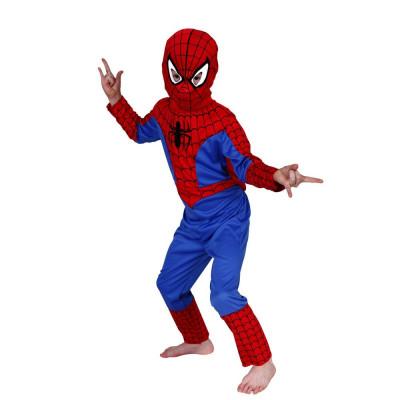 Costum Spiderman copii L 120 130 cm pentru 7 9 ani foto