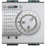 Termostat vara iarna de ambient electronic Living Light Bticino 2M culoare aluminiu NT4442