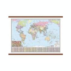 Harta politica a lumii cu sipci 1600x1200 mm (DLFGHLP160)
