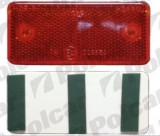 Catadioptru reflectorizant universal rosu BestAutoVest partea dreapta/stanga 89x40x6mm banda adeziva Kft Auto