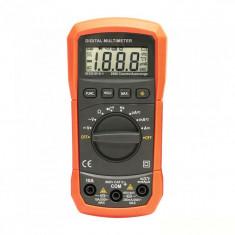 Multimetru digital, ecran LCD, 9V, 2 testere, carcasa antisoc, Home