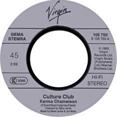 "Culture Club – Karma Chameleon 1983, Virgin, Disc vinil single 7"""