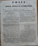 Ziarul Foaia pentru minte , inima si literatura , nr. 41 , 1853