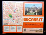 BUCAREST-Bucuresti,Ateneul Roman.Pliant turistic ONT Carpati, anii '70.