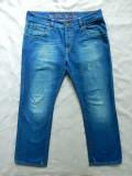 Tommy Hilfiger Denim Wilson Regular Straight Low Waist Blue Destructred; 38/34
