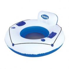 Colac gonflabil, model fotoliu, alb/albastru, 119cm