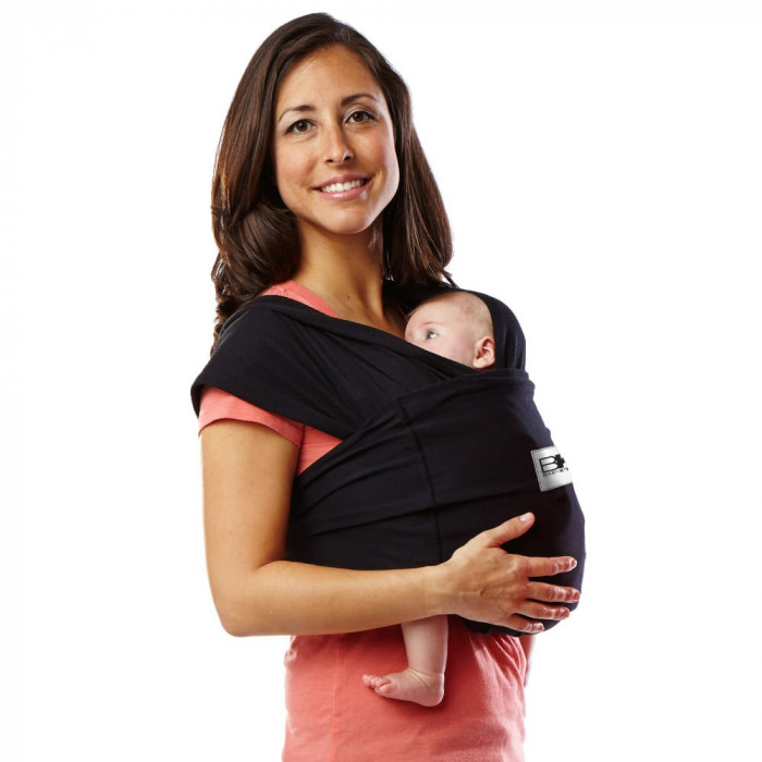 Sistem Purtare Baby Ktan Baby Carrier Original Cotton - Basic Black - Marimea XS