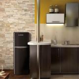 Cumpara ieftin Klarstein Mondroe XL Black, frigider combinat, congelator, 97/39 l, A+, design retro, negru