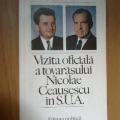 n7 Vizita oficiala a tovarasului Nicolae Ceausescu in SUA