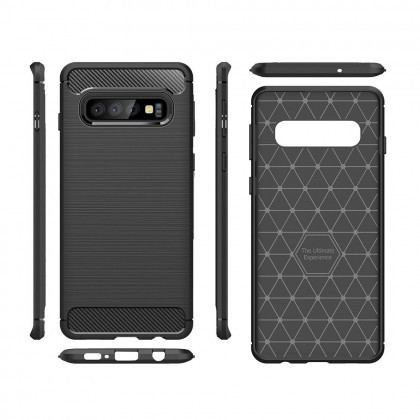 Husa Silicon CARBON Huawei Mate 20 Negru