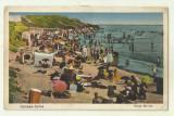 cp Carmen Sylva : Plaja Movila - 1934, circulata, timbre