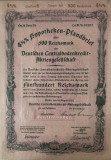 500 Reichsmark titlu de stat Germania 1937