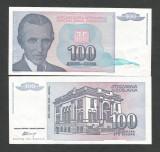 IUGOSLAVIA 100 DINARI DINARA 1994 [2] P- 139 a , a UNC