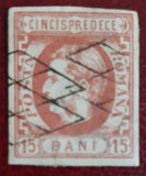 Timbre 1869 Carol I cu Favoriti 15 bani