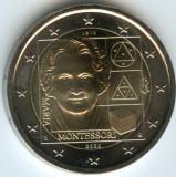 ITALIA moneda 2 euro comemorativa 2020 - Montessori, UNC, Europa, Cupru-Nichel