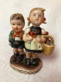 Figurina din portelan german fetita cu baietel