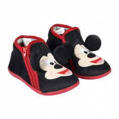 Papuci de casa Mickey Mouse, Negru/Rosu