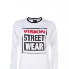 Bluza Vision Street Wear Raglan Crew Logo Alb L