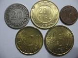 Italia (1) - 20 Centesimi 1894, 200 Lire 1995, 1, 20, 50 Euro Cent 2002, Europa