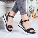 Sandale dama cu platforma negre Cilita