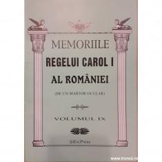 Memoriile Regelui Carol I al Romaniei (de un martor ocular) volumul IX