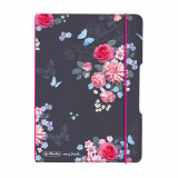 Caiet My.Book Flex A6 40F Dictando Ladylike Flowers Herlitz