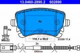 Set placute frana,frana disc VW PHAETON (3D) (2002 - 2016) ATE 13.0460-2890.2