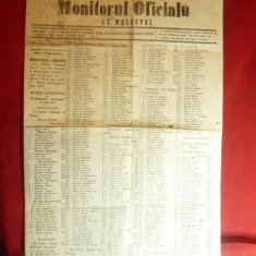 Monitorul Oficial al Moldovei 24 dec.1860 - Liste Electorale , 2 pag