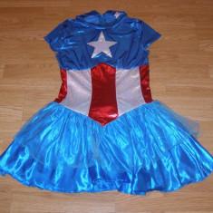 costum carnaval serbare captain american pentru copii de 10-11-12 ani