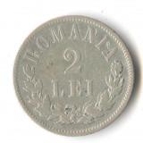 Moneda din argint 2 Lei 1875 - Romania Regat