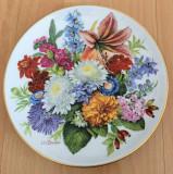 Farfurie - Ursula Band - Visul Florilor - Hutschenreuther - 1988 - Toamna, Decorative