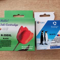 Set 2 Cartuse Compatibile cu HP 350XLBK si HP 351XLC