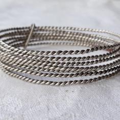 BRATARA argint TRIBALA manuchi format din 7 BRATARI simple SPLENDIDA de efect