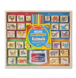 Set ștampile din lemn Animale, Melissa & Doug