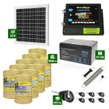 Pachet Gard electric 6,6j putere cu Panou Solar si 9000m de fir 160Kg
