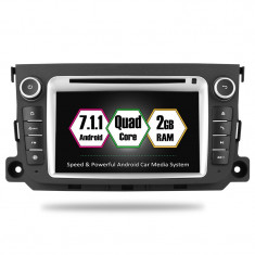 "Navigatie GPS Auto Audio Video cu DVD si Touchscreen 7 "" inch Rezolutie HD 1024x600 Mercedes Benz Smart Fortwo + Cadou Soft si Harti GPS 16Gb Memorie"