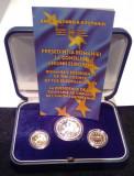 Moneda argint PRESEDENTIA UE 10 Lei & 2 x 50 Bani 2019 PROOF in caseta Originala