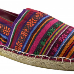 Espadrile Colors Vintage - Multicolor III, 39, 41
