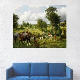 Tablou Canvas, Sateni in Padure - 20 x 25 cm