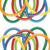 "Baloane Latex Modelaj Carnival Assortment, 1"" x 60"", Qualatex 160 99320, set 100 buc"