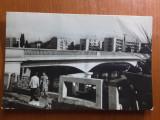 Oradea - Vedere de pe Podul 23 August - carte postala circulata 1966, Fotografie
