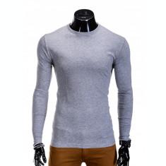 Bluza pentru barbati, din bumbac, gri, simpla, slim fit - L59