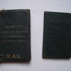 Lot legitimatii CFR 1912, 1938 pe acelasi nume